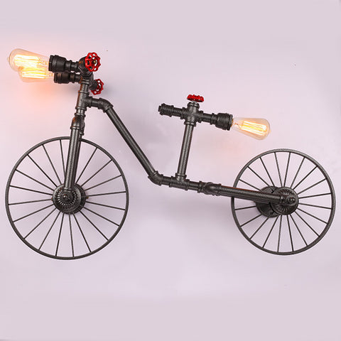 3 Light Bicycle Hanging Light Industrial Pipe Pendant Light