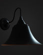 Black Bell Lampshade Wall Sconces