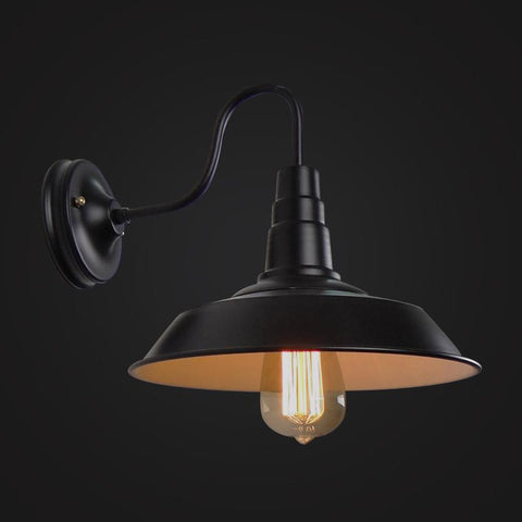 Industrial Funnel Wall Lamp