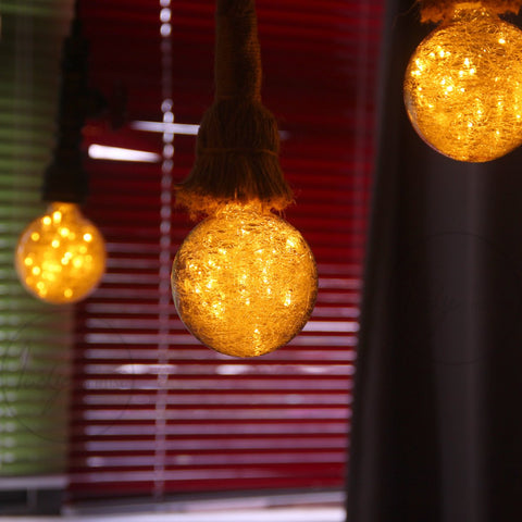 G95 LED Fairy String Light Bulb with Fireworks Glass - Warm White