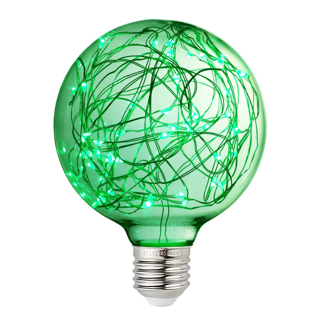 Colored Vintage Edison LED Fairy String Light Bulb - Green