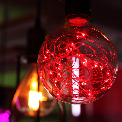 G95 LED Fairy String Light Bulb - Red