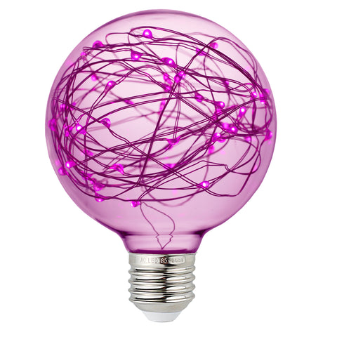 Colored Vintage Edison LED Fairy String Light Bulb - Purple