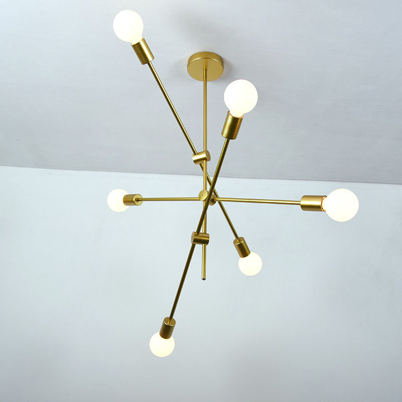 Contemporary Gold Chandelier - Nordic Multi-Light Ceiling Light