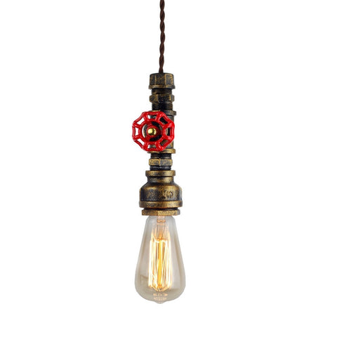 Industrial Retro Rustic Bronze Pipe Pendant Light
