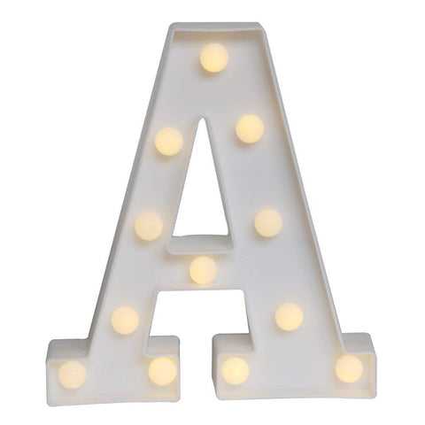 LED Marquee Letter Lights Alphabet Light Up Sign for Wedding Home Party Bar Halloween Christmas Decoration - Judy Lighting