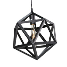 "Geometric Style 16"" Black Black Wrought Iron Metal Chandelier"