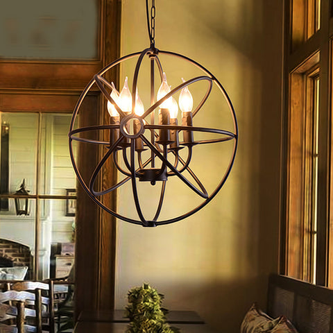 Ombret 6-Light Globe Orb Chandelier