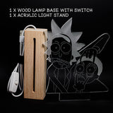 Rick and Morty LED Ambient Night Light, Warm White, Beech Wood Base