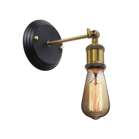 Brooklyn 1-light Industrial Metal Wall Lamp