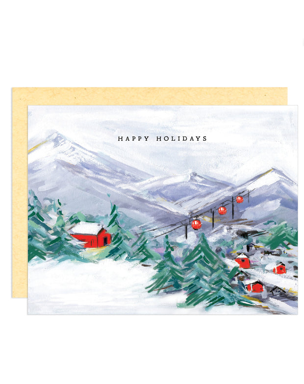 Happy Holidays Snowy Mountains