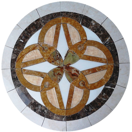 Tile Floor Medallion Marble Mosaic