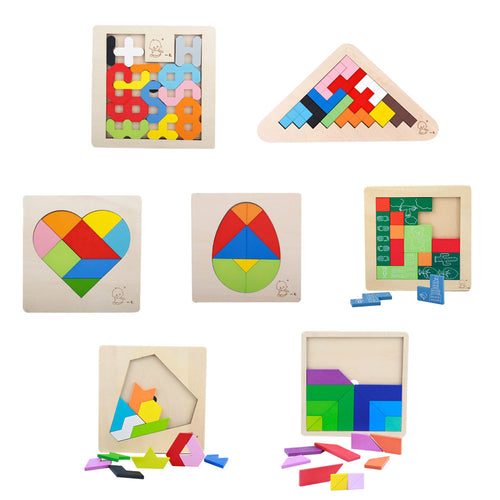 3D Jigsaw Wooden Puzzle Board