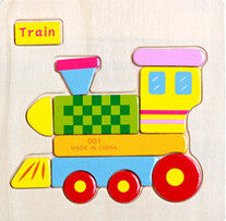 Wooden Animals and Transportation Jigsaw