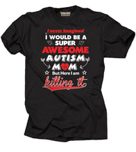 Printed Autism Awareness with Short Sleeves Cotton T-Shirts for Mom