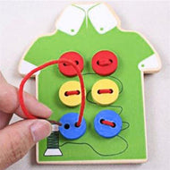 Pretend Sewing on Button Dress Board