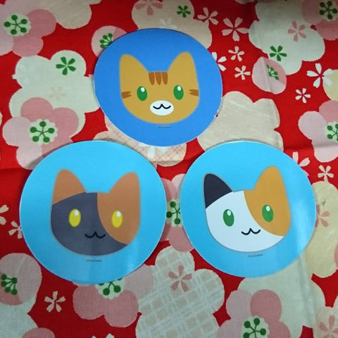Cat Face Stickers Set [Fund Raising]