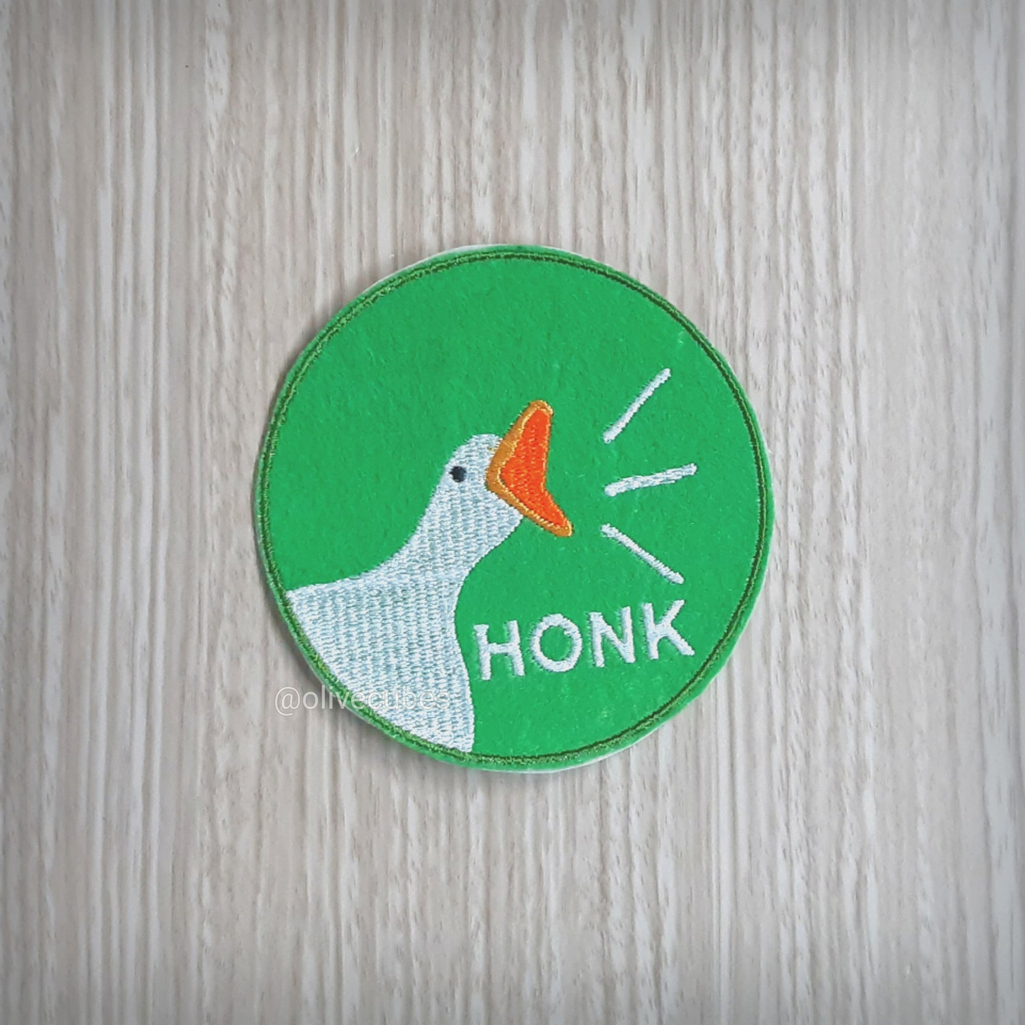 HONK! Untitled Goose Game Inspired Embroidered Iron On Patch