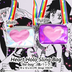"Heart Holo Sling ""Ita Bag"" (痛バッグ)"