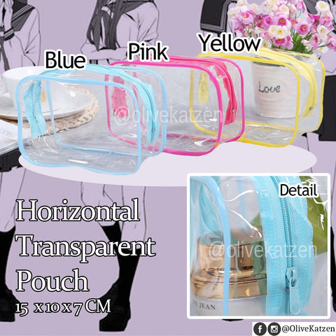 "Clear Pouch Plush Holder ""Ita Bag"" (痛バッグ) Make-up Bag"