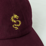Dragon burgundy dad hat
