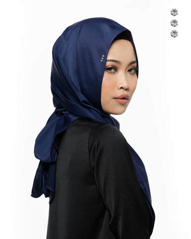 Mawar Semi-Instant Shawl In Cream Silver