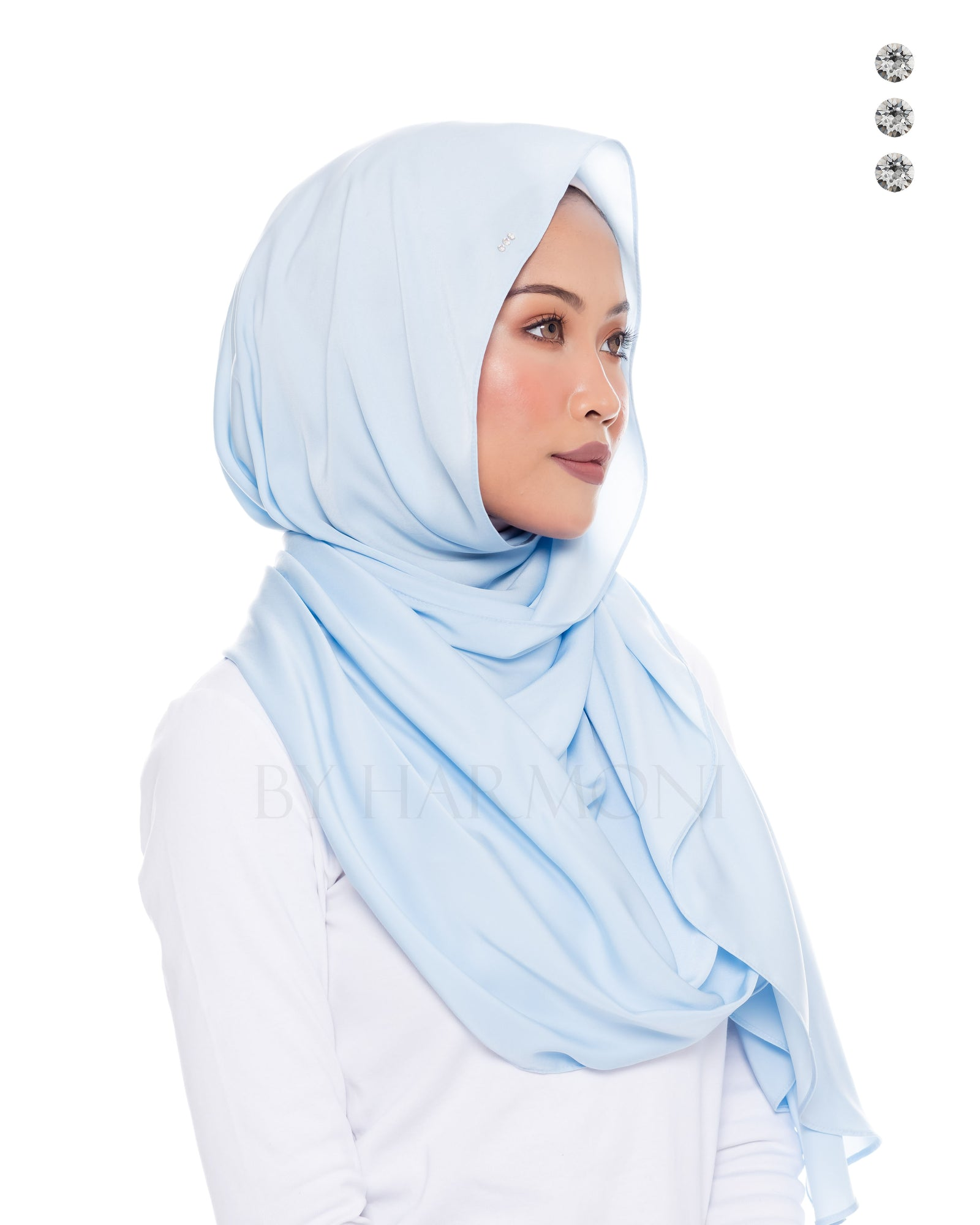Putri Semi-Instant Shawl In Candy Blue