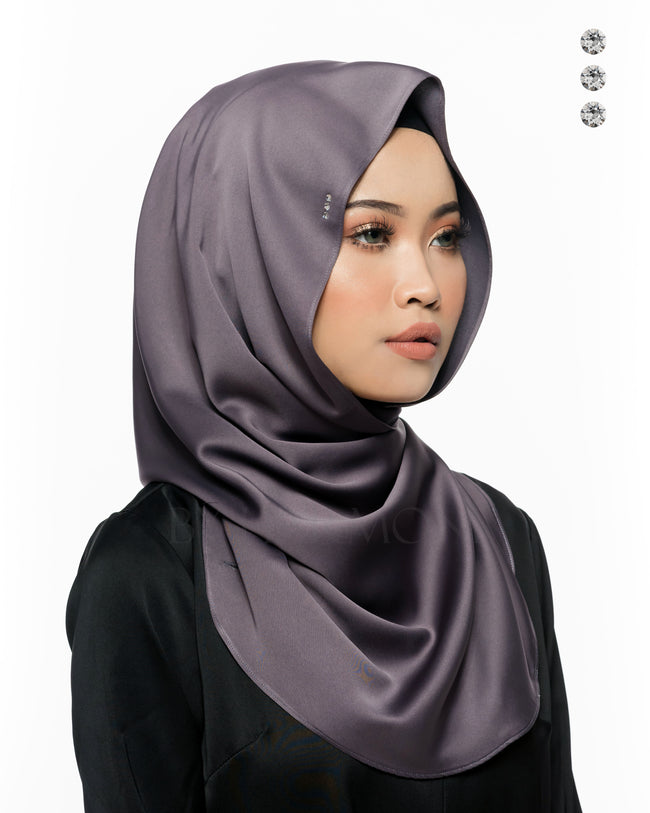Baby Bidadari Snoodie In Phantom Grey