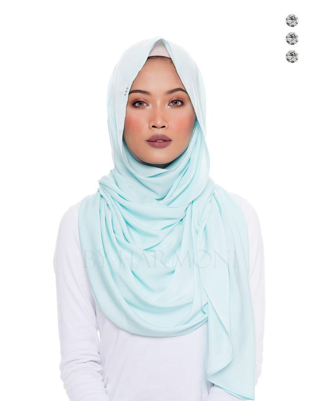 Putri Semi-Instant Shawl In Candy Mint