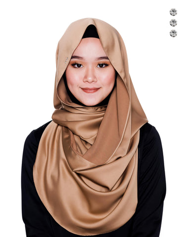 Bidadari Snoodie In Gold Sparkle