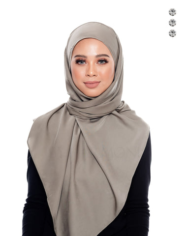 Mekar Semi-Instant Shawl In Silver Mint