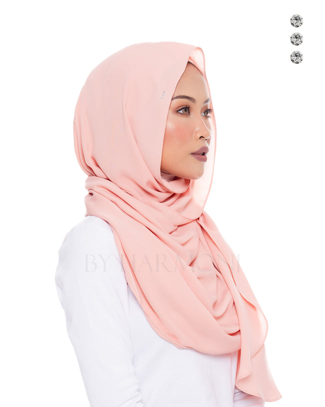 Putri Semi-Instant Shawl In Candy Melon