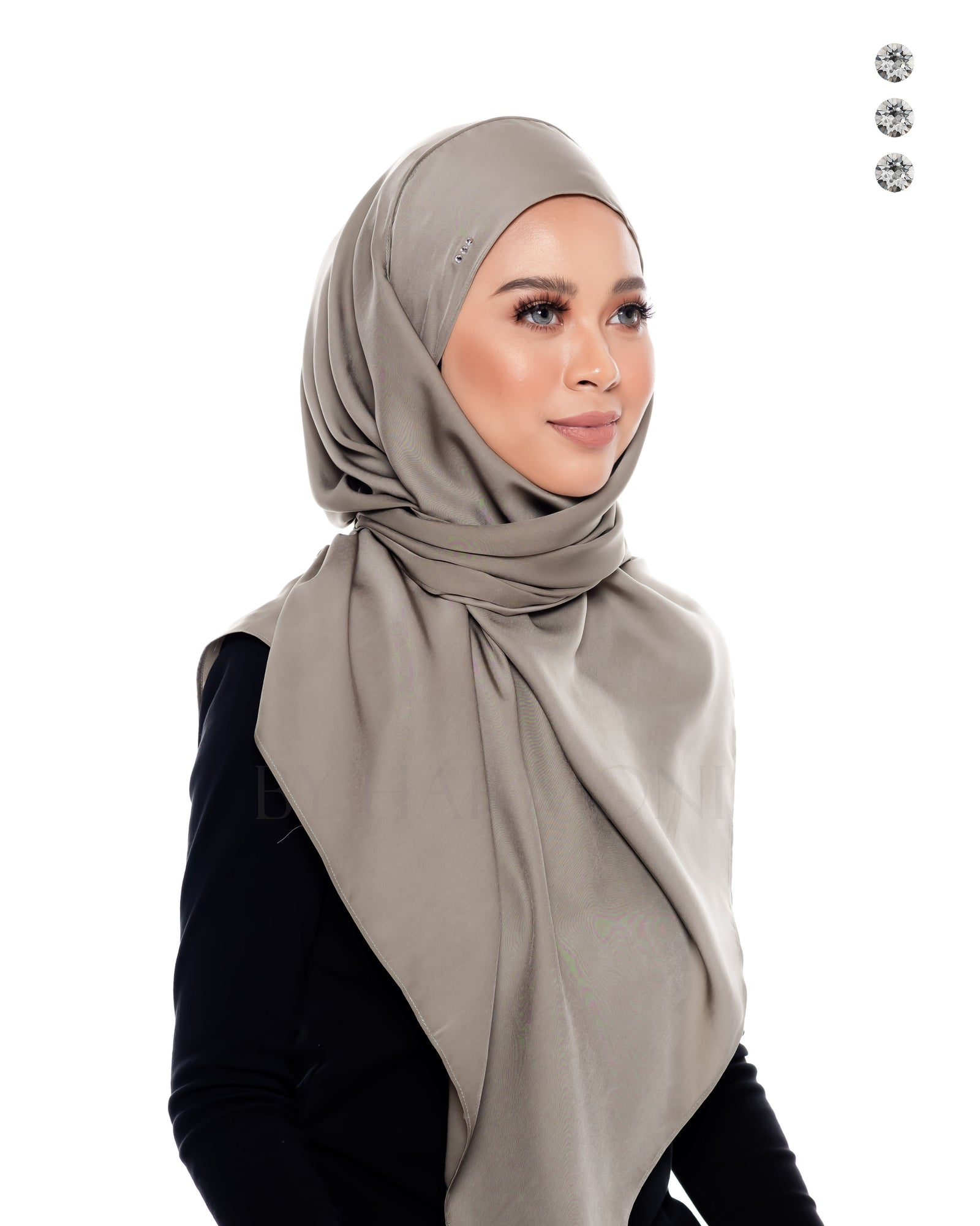 Berlian Semi-Instant Shawl In Moss Grey