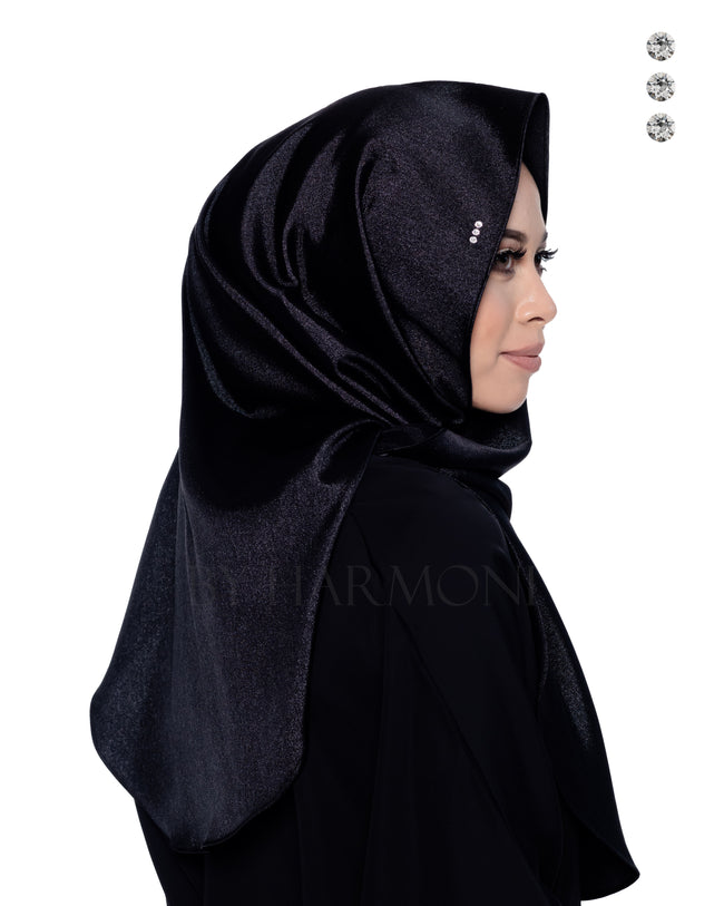 Bidadari Shawl In Galactic Black