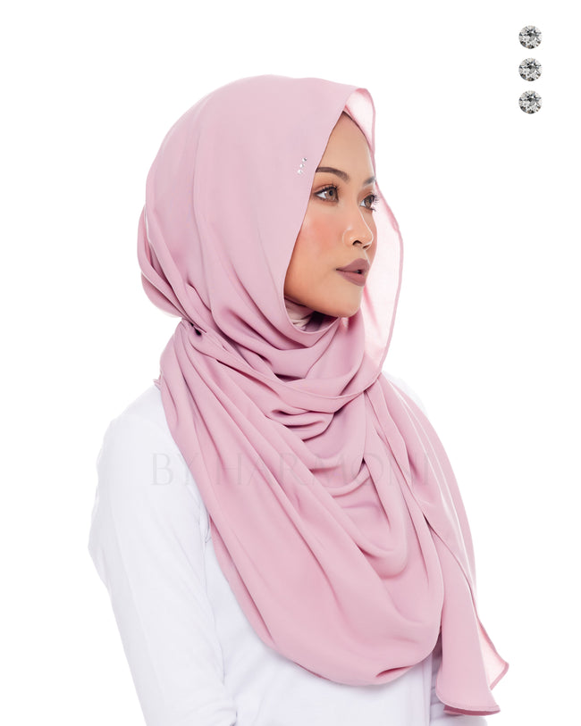 Putri Semi-Instant Shawl In Candy Grape