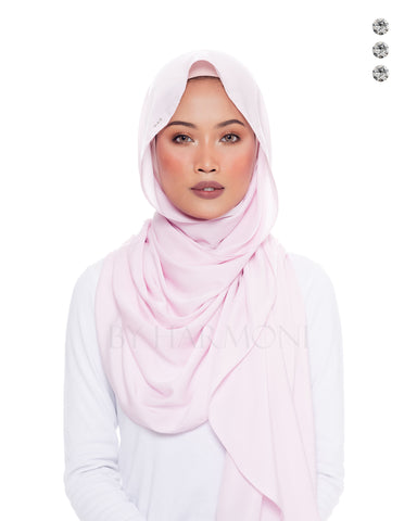 Putri Semi-Instant Shawl In Candy Strawberry