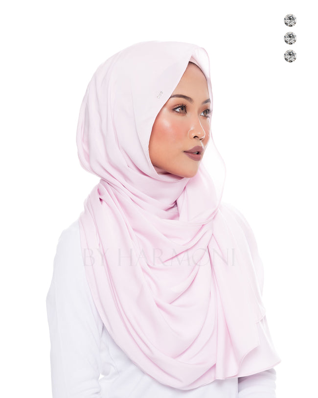 Putri Semi-Instant Shawl In Candy Pink
