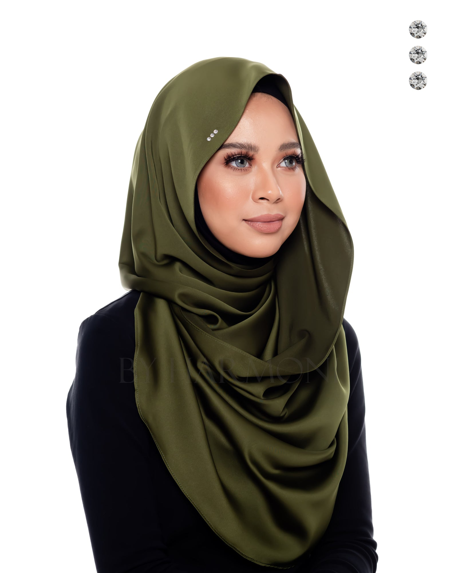 Bidadari Snoodie In Young Olive