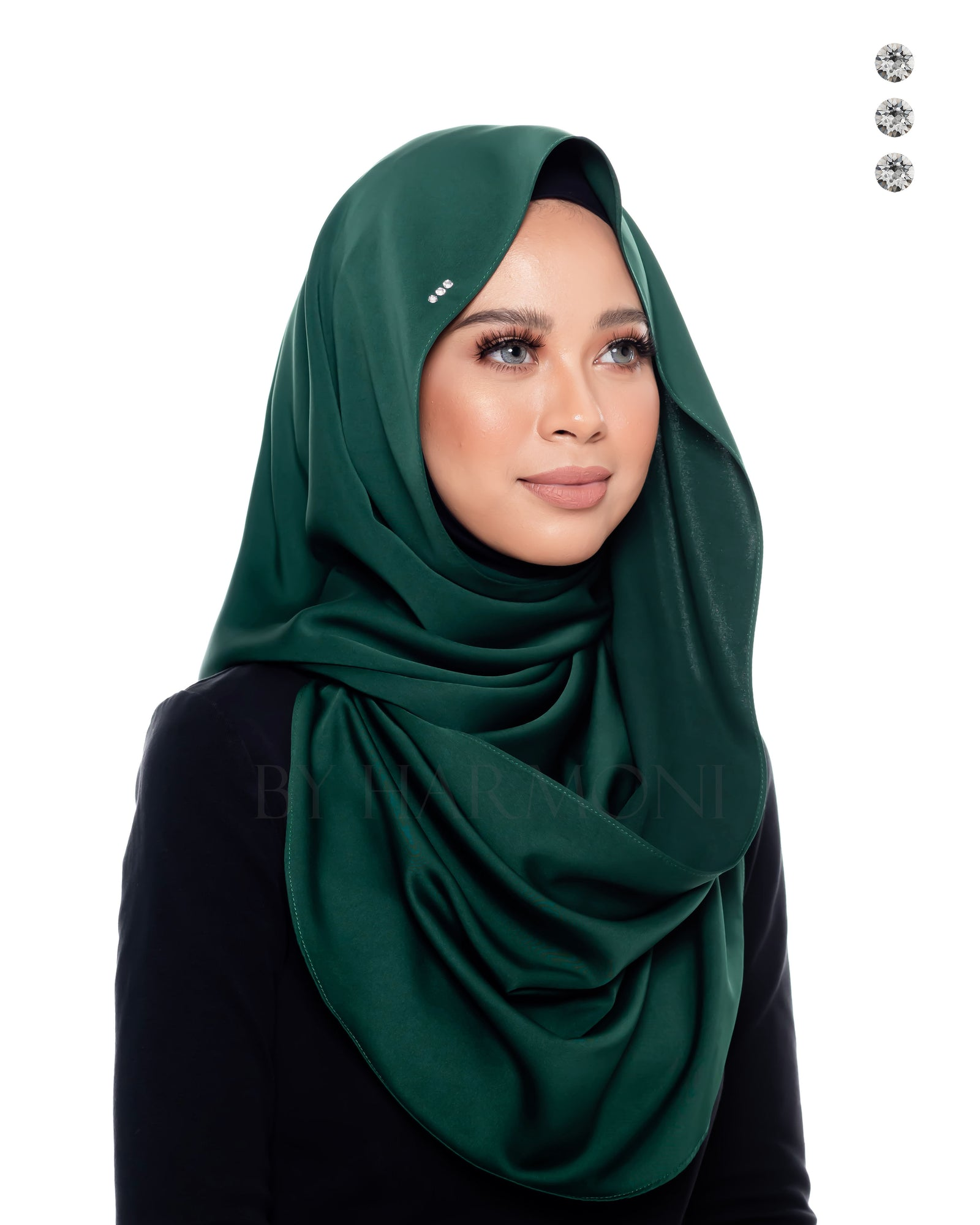 Bidadari Snoodie In Forest Green
