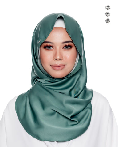 Baby Angsa Instant Shawl In Soft Golden