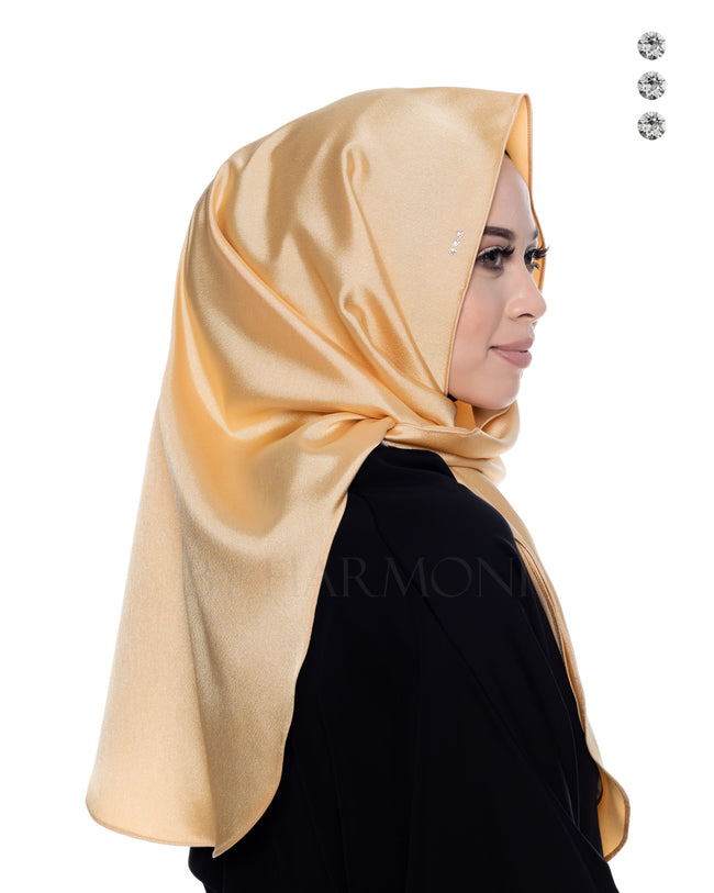 Bidadari Shawl In Galactic Yellow Gold