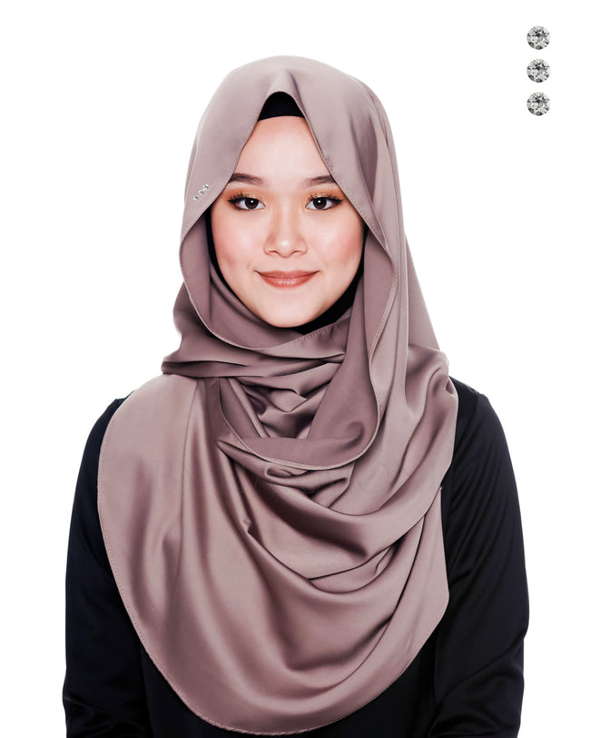 Bidadari Snoodie In Mink Grey