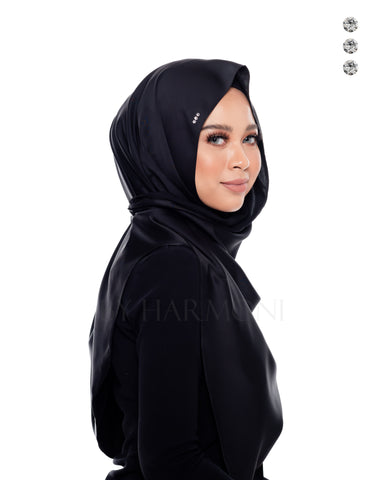 Putri Semi-Instant Shawl In Glamorous Grey Gold