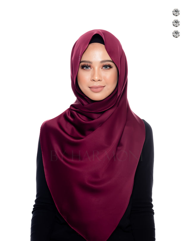 Tiara Shawl In Burgundy