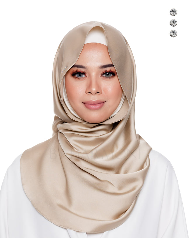 Baby Bidadari Snoodie In Champagne Golden