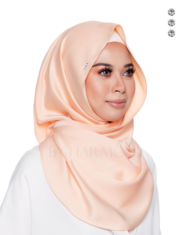 Baby Bidadari Snoodie In Fresh Peach