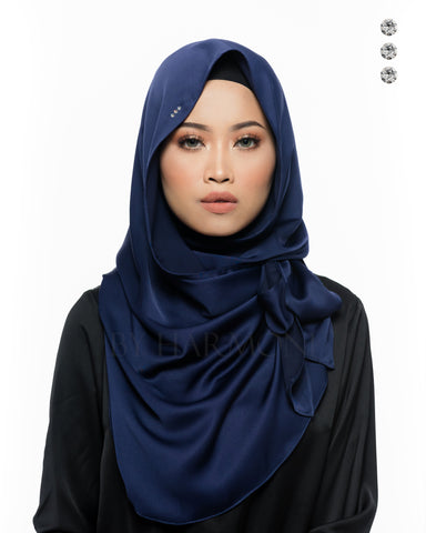 Putri Semi-Instant Shawl In Silver Golden