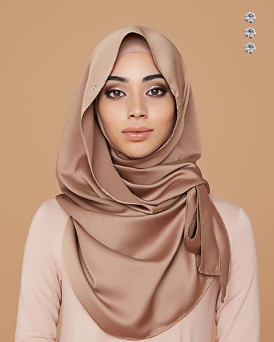 Putri Semi-Instant Shawl In Soft Golden