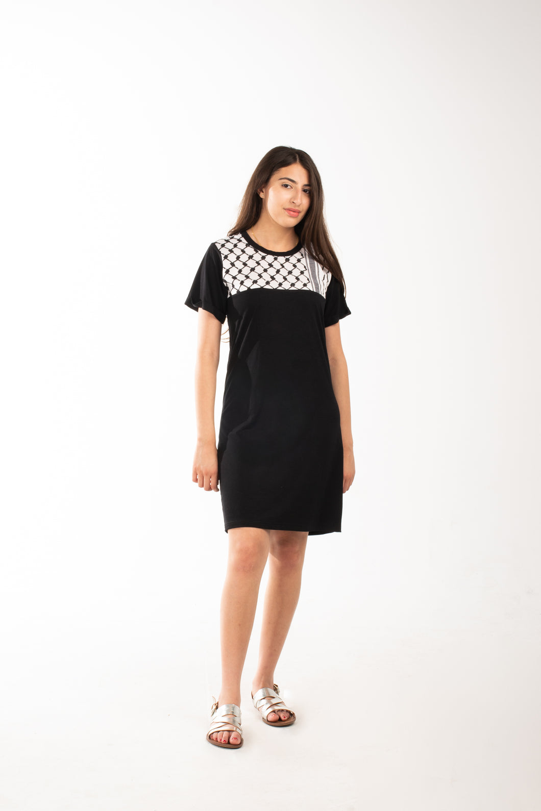 Keffiyeh T-Shirt Dress
