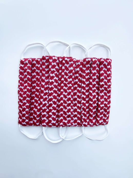 Set of 4 Red Keffiyeh Masks Reusable*